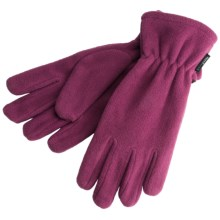 White Sierra Fleece Gloves - Midweight (For Men and Women) in Berry - Closeouts