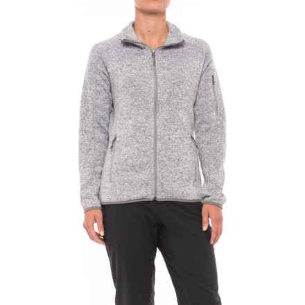 White Sierra Fleece Sierra Sweater - Full Zip (For Women) in Heather Grey - Closeouts