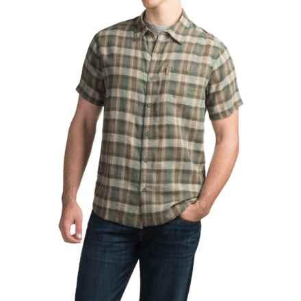 White Sierra Flynn Plaid Shirt - Organic Cotton-Hemp, Short Sleeve (For Men) in Balsam Green - Closeouts