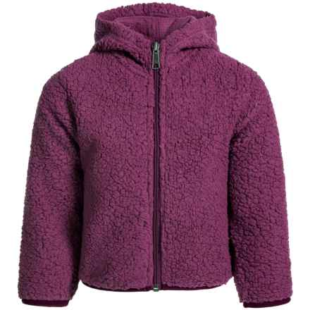 White Sierra Fuzzy Buddy Jacket (For Toddlers) in Crushed Grape - Closeouts