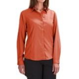 White Sierra Gobi Desert Shirt - UPF 30, Convertible Long Sleeve (For Plus Size Women)
