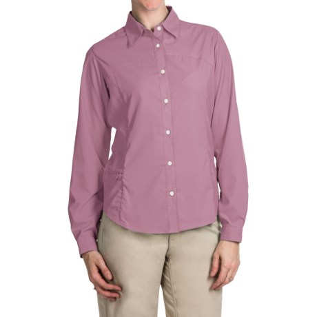 White Sierra Gobi Desert Shirt UPF 30, Convertible Long Sleeve (For Plus Size Women)