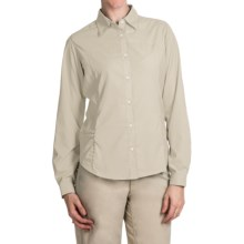 White Sierra Gobi Desert Shirt - UPF 30, Convertible Long Sleeve (For Plus Size Women) in Sand - Closeouts