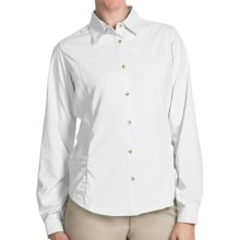 White Sierra Gobi Desert Shirt - UPF 30, Convertible Long Sleeve (For Plus Size Women) in White - Closeouts