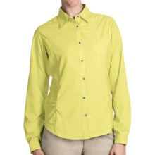 White Sierra Gobi Desert Shirt - UPF 30, Convertible Long Sleeve (For Plus Size Women) in Yellow - Closeouts