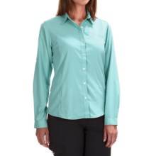 White Sierra Gobi Desert Shirt - UPF 30, Convertible Long Sleeve (For Women) in Clearwater - Closeouts