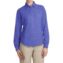 White Sierra Gobi Desert Shirt - UPF 30, Convertible Long Sleeve (For Women) in Dark Violet - Closeouts