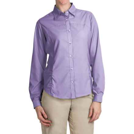 White Sierra Gobi Desert Shirt - UPF 30, Convertible Long Sleeve (For Women) in Lavender - Closeouts