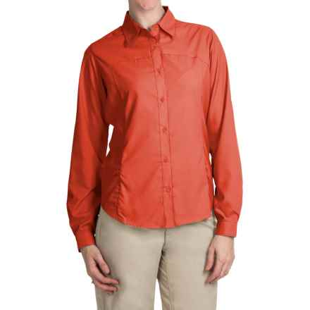 White Sierra Gobi Desert Shirt - UPF 30, Convertible Long Sleeve (For Women) in Nasturium - Closeouts