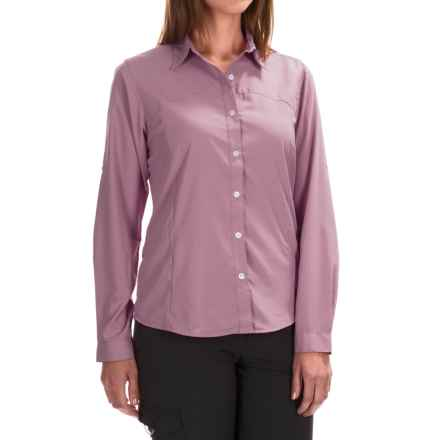 White Sierra Gobi Desert Shirt - UPF 30, Convertible Long Sleeve (For Women) in Orchid Haze - Closeouts
