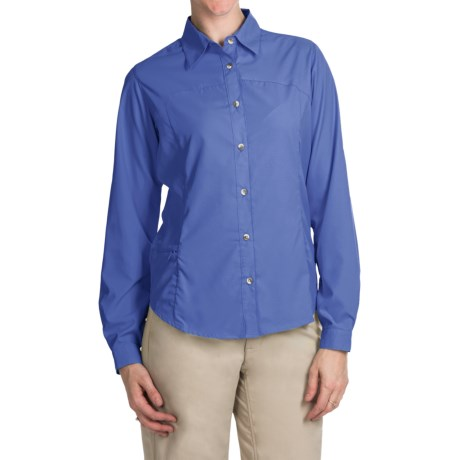 White Sierra Gobi Desert Shirt - UPF 30, Convertible Long Sleeve (For Women) in Purple Rain