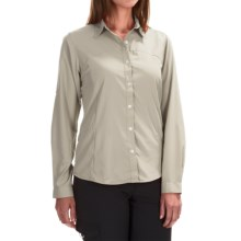 White Sierra Gobi Desert Shirt - UPF 30, Convertible Long Sleeve (For Women) in Sand - Closeouts