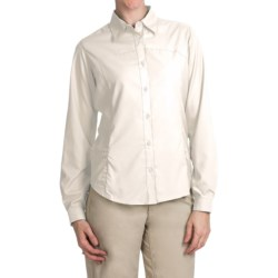 White Sierra Gobi Desert Shirt - UPF 30, Convertible Long Sleeve (For Women) in Snow White