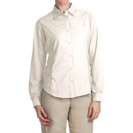 White Sierra Gobi Desert Shirt - UPF 30, Convertible Long Sleeve (For Women) in Snow White - Closeouts