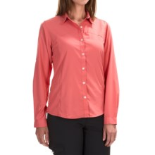 White Sierra Gobi Desert Shirt - UPF 30, Convertible Long Sleeve (For Women) in Watermelon - Closeouts