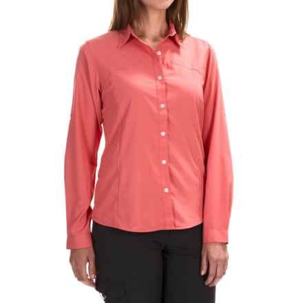 White Sierra Gobi Desert Shirt - UPF 30, Convertible Long Sleeve (For Women) in Watermelon - Closeouts