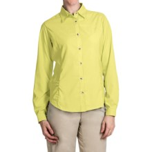 White Sierra Gobi Desert Shirt - UPF 30, Convertible Long Sleeve (For Women) in Yellow - Closeouts