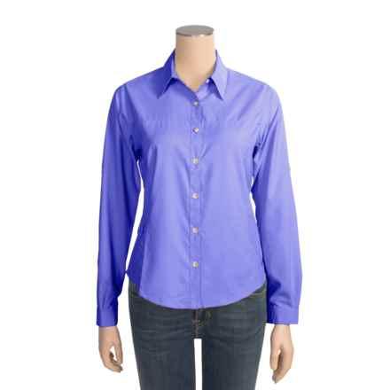 White Sierra Gobi Desert Shirt - UPF 30, Long Sleeve (For Women) in Dark Violet - Closeouts