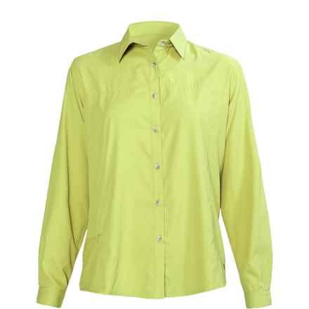 White Sierra Gobi Desert Shirt - UPF 30, Long Sleeve (For Women) in Faded Lime - Closeouts