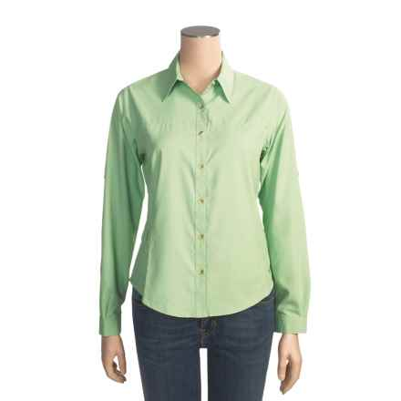 White Sierra Gobi Desert Shirt - UPF 30, Long Sleeve (For Women) in Spruce Green - Closeouts