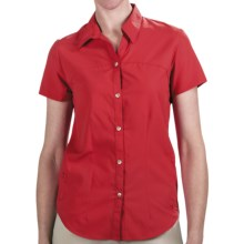 White Sierra Gobi Desert Shirt - UPF 30, Short Sleeve (For Women) in Hibiscus - Closeouts