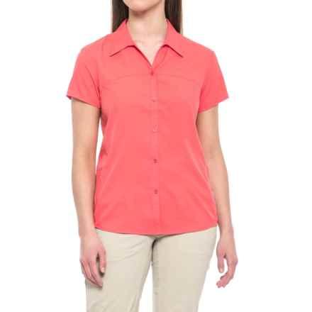 White Sierra Gobi Desert Shirt - UPF 30, Short Sleeve (For Women) in Watermelon - Closeouts