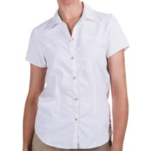 White Sierra Gobi Desert Shirt - UPF 30, Short Sleeve (For Women) in White - Closeouts