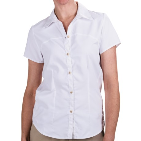 White Sierra Gobi Desert Shirt - UPF 30, Short Sleeve (For Women) in White
