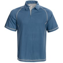 White Sierra Granite Creek CoolMax® Polo Shirt - UPF 40+, Short Sleeve (For Men) in Blue Steel - Closeouts