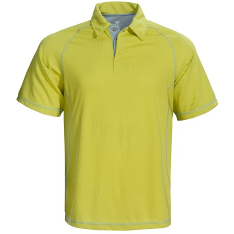 White Sierra Granite Creek CoolMax® Polo Shirt - UPF 40+, Short Sleeve (For Men) in Bright Lime