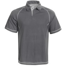 White Sierra Granite Creek CoolMax® Polo Shirt - UPF 40+, Short Sleeve (For Men) in Caviar - Closeouts
