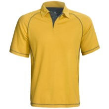White Sierra Granite Creek CoolMax® Polo Shirt - UPF 40+, Short Sleeve (For Men) in Mineral Yellow - Closeouts
