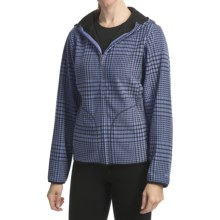 White Sierra Green Pine Jacket (For Women) in Sapphire Plaid/Black - Closeouts