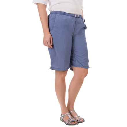 White Sierra Hanalei Bermuda Shorts (For Plus Size Women) in Evening Blue - Closeouts