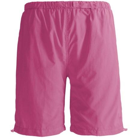White Sierra Hanalei Bermuda Shorts (For Plus Size Women) in Pink Sunset