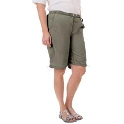 White Sierra Hanalei Bermuda Shorts (For Plus Size Women) in Stone