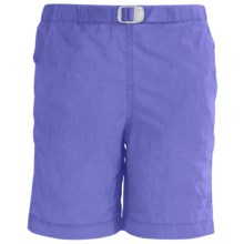 White Sierra Hanalei Shorts - UPF 30 (For Girls) in Sapphire - Closeouts