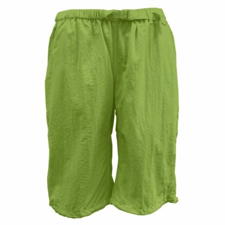 White Sierra Hanalei Shorts - UPF 30 (For Women) in Greenery