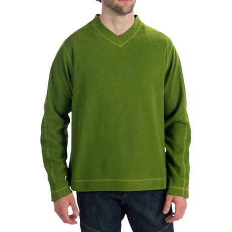 White Sierra Headwall V-Neck Shirt - Long Sleeve (For Men) in Moss