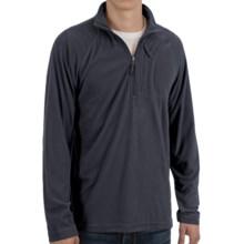 White Sierra Hex Fleece Shirt - Zip Neck, Long Sleeve (For Men) in Titanium - Closeouts