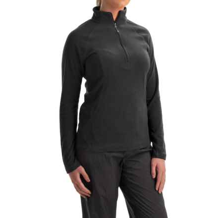 White Sierra Hexi Fleece Shirt - Zip Neck, Long Sleeve (For Women) in Black - Closeouts