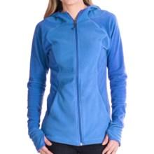 White Sierra Hexi Hoodie - Fleece (For Women) in Blue Ice - Closeouts