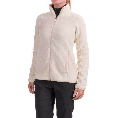 White Sierra Homewood Fleece Jacket (For Women) in Milky White