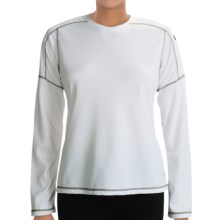 White Sierra Honeycomb Shirt - Long Sleeve (For Women) in White - Closeouts