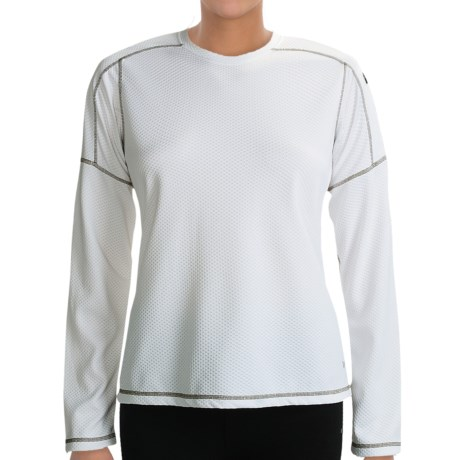 White Sierra Honeycomb Shirt - Long Sleeve (For Women) in White