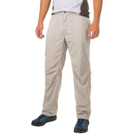 White Sierra Insect Shield® Bug-Free Base Camp Pants - UPF 30 (For Men) in Sand - Closeouts