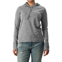 White Sierra Insect Shield® Bug Free Hoodie - UPF 30+ (For Women) in Heather Grey - Closeouts
