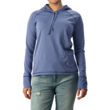 White Sierra Insect Shield® Bug Free Hoodie - UPF 30+ (For Women) in Periblue - Closeouts