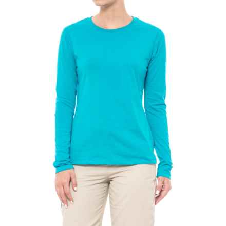White Sierra Insect Shield® Bug Free Swamp Crew - UPF 30+, Long Sleeve (For Women) in Lagoon - Closeouts