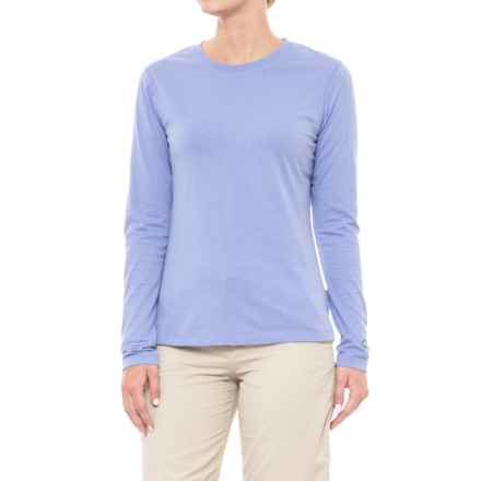 White Sierra Insect Shield® Bug Free Swamp Crew - UPF 30+, Long Sleeve (For Women) in Light Iris - Closeouts